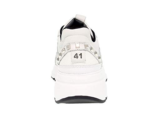 4us Cesare Paciotti Homme 4uspu1 Cuir Baskets Blanc zgHf68wg