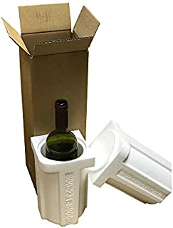 product image for One Bottle Styrofoam Wine Shipper with Cardboard Shipping Box/Holds 750ml Bottles