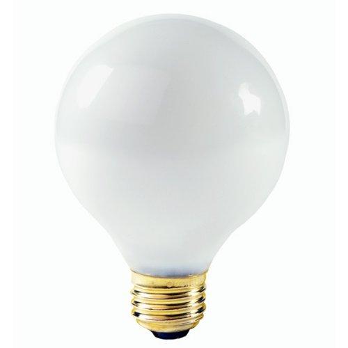 Satco S3441 40W 120V Globe G25 Gloss White E26 Base Incandes