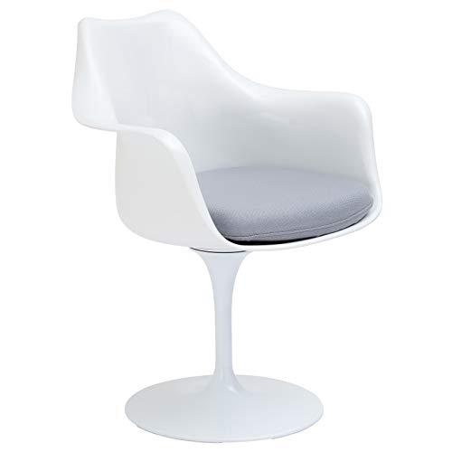 Poly and Bark Daisy Arm Chair in - Knoll Tulip Saarinen
