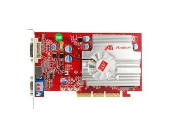 ATI Radeon 9550 256MB DDR AGP VGA DVI TV-out Graphics Video 64-bit (Red)