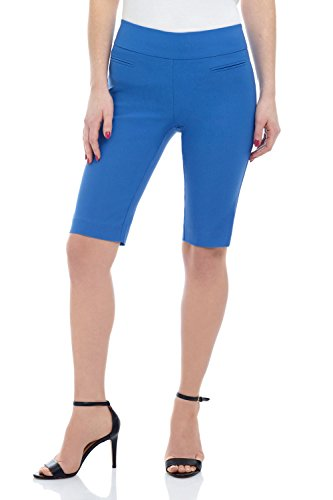 Rekucci Women's Ease in to Comfort Fit Pull-On Modern City Shorts (18,Bluebell) ()