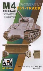 M-4/M-3 T51 Workable Track Links 1-35 AFV Club (M3 Lee Tank Model)