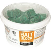 JT Eaton 704-PN Bait Block Rodenticide Anticoagulant Bait, Peanut Butter Flavor, For Mice and Rats (Pail of 64) from J T Eaton