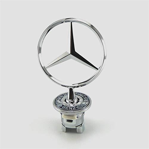 llfaith Mercedes-Benz Engine Lid Star Hood 3D Logo Emblem BadgeSilver#1