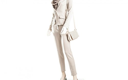 Cream Leather Bag Cream Alessia Womens Shoulder Bone Passione vzwWp5