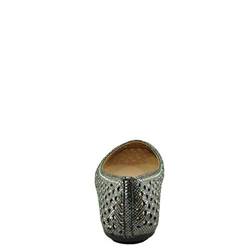 Bamboe Quintus 80a Dames Geperforeerd Glitter Plat Tinnen