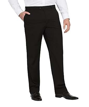 Bracks Men's Black Self Stripe Trouser, Black, 107S
