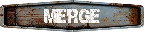 Any and All Graphics Merge Rustic Weathered Metal Look Diamond Shaped 4