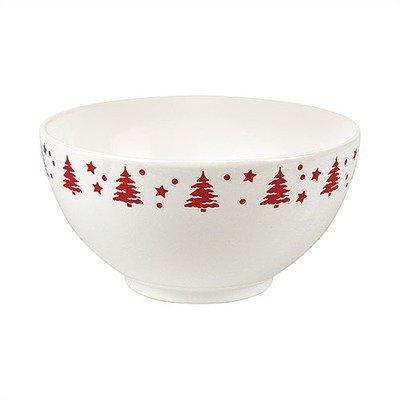 (Tannenbaum Medium Serving Bowl in White with Cherry Tree)