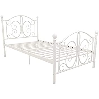 Amazon Com Dhp Vintage Design Bombay Bed Frame With Metal
