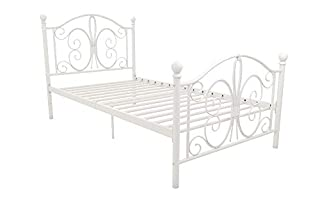 DHP Bombay Metal Bed, Twin, White (B00H8I4C0Q) | Amazon Products