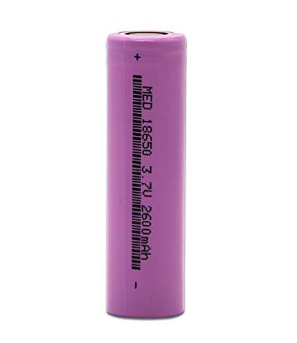 TOMOTO 18650 Lithium Rechargeable Batteries 2600mAh 3.7V, 1PCS