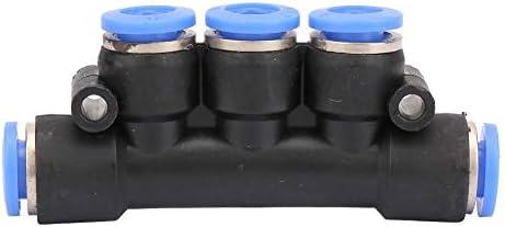 ジョイント5pcs 4/6/8/10 / 12mm ODパイプ空気圧継手マニホールド 5ウェイ チューブ空気圧継手マニホールド(PK-6(6mm))