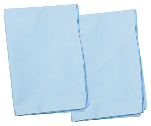 2-Blue-Toddler-Pillowcases-Envelope-Style-For-Pillows-Sized-13x18-and-14x19-100-Cotton-With-Soft-Sateen-Weave-Machine-Washable