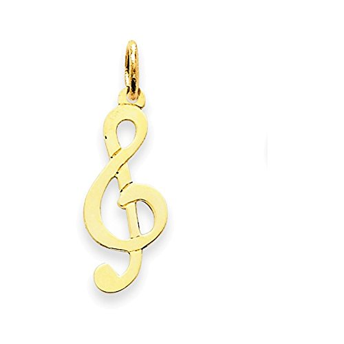 (Jewelry Adviser Charms 14k Polished Treble Clef Charm)