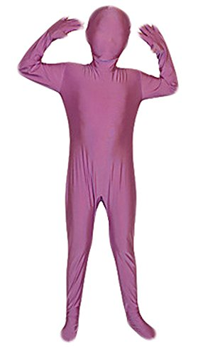 [Seeksmile Kids Costume Full Body Lycra Zentai Suit (Small, Violet Purple)] (Halloween Costumes Violet)