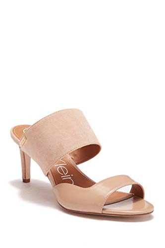 Calvin Klein Womens Clementine Leather Open Toe Casual, Desert Sand, Size 10.0