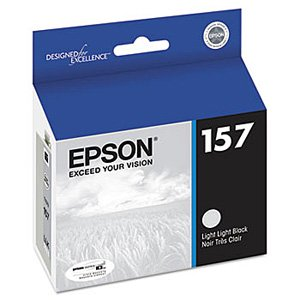 Epson Genuine Brand Name, OEM T157920 (T1579) Light Light Black Inkjet Cartridge (UltraChrome K3) for Stylus Photo R3000 Printers