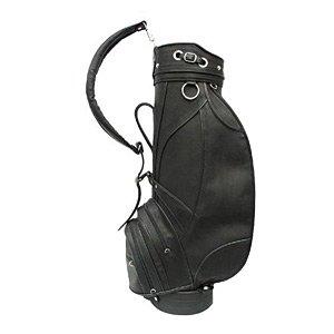 Piel Leather Deluxe 9in Golf Bag Blk, Black