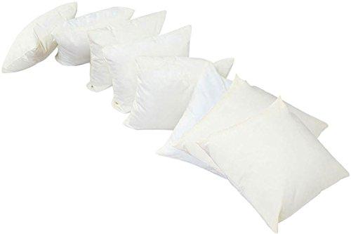 OUTFLEXX 8er-Set weiche kuschelige Kissen inklusive creme-weiße Bezüge, ca. 45 x 45 cm, Polsterfüllung PP-Cotton, pflegeleicht, wasserabweisend und waschbar, bester Sitzkomfort auf Polyrattan Möbel