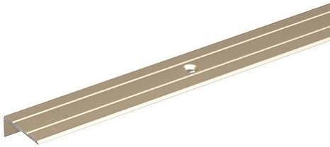 1000 x 24,5 x 10 mm GAH-Alberts 490157 Treppenkanten-Schutzprofil gebohrt edelstahlfarbig eloxiert Aluminium
