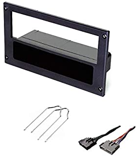 asc car stereo install dash kit and wire harness for installing an  aftermarket single din radio