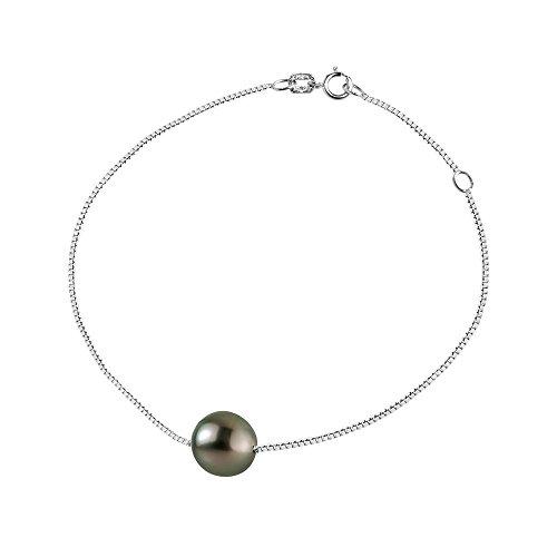 & You - Bracelet Chaîne - Argent 925 - Access - Perle - Perle de Culture de Tahiti - 18 cm - AM-SBR 52 R8-18