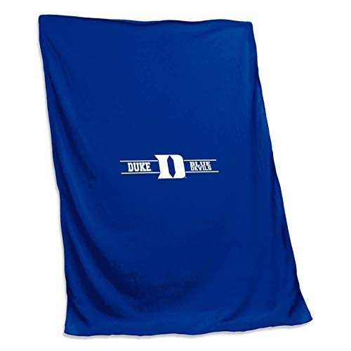 (Logo Duke Blue Devils NCAA 54 X 84 Fleece Sweatshirt Blanket - Team Color,)