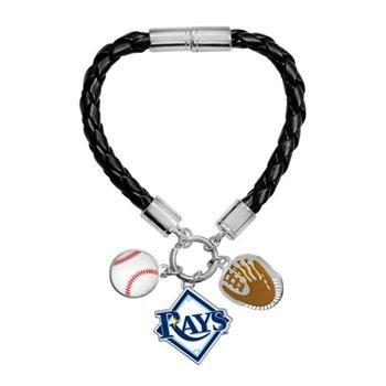 Game Time 101487 MLB Tampa Bay Rays Charm Bracelet