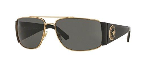Versace Men's VE2163 Gold/Black/Grey Sunglasses
