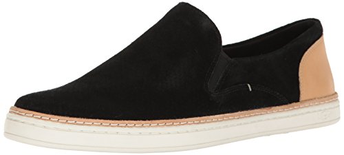 UGG Women's Adley Perforated Fashion Sneaker, Black, 8 M US - Ugg Slip Ons