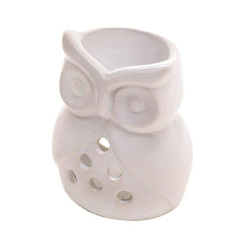 Price comparison product image Home Locomotion White Ceramic Owl Oil Warmer
