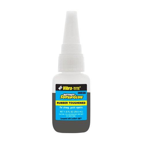 38828 - Cyanoacrylate Rubber Toughened - Shock/Temp Resistant - 1 oz - Black