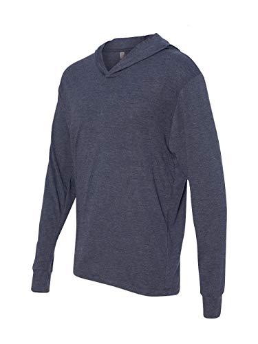 Next Level Apparel 6021 Unisex Tri-Blend Long-Sleeve Hoody - Vintage Navy44; Medium - Tri T-shirt Blend
