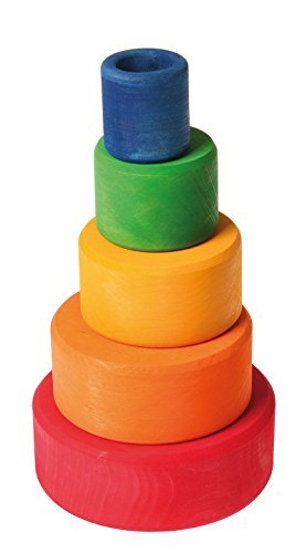Grimm S Set Of 5 Small Wooden Stacking Amp Nesting Rainbow