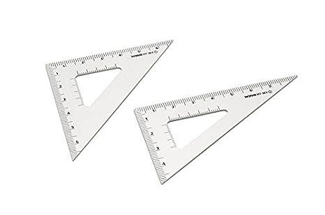 ウェーブ HG アルミ三角定規 2枚セット