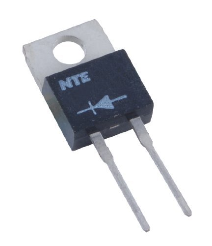 NTE Electronics NTE581 Silicon General Purpose Rectifier, Fast Recovery, 2-Lead TO220 Type Package, 150ns Maximum Reverse Recovery Time, 8 Amp Current Rating, 400V - General Purpose Silicon Rectifier