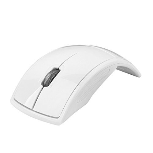 MagiDeal Ergonomic Curved Wireless 2.4 GHz Optical Slim Mouse with DPI Switch (Dpi Switch)