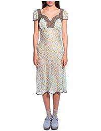 Women'S Mint Rosine Rose Cap Sleeve Dress
