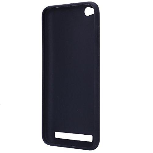 Funda Xiaomi Redmi 5A,SainCat Moda Alta Calidad suave TPU Silicona Suave Funda Carcasa Caso Parachoques Diseño pintado Patrón para Carcasas Fondo negro TPU Silicona Ultra Slim Ultra-Delgado Anti-Araña Enojado