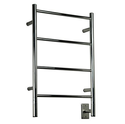 Jeeves Wall Mont Electric I Straight Towel Warmer Finish: Polished (Amba Warmer Towel Bronze)