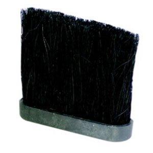 5 In Nylon Fireplace Brush Head in Black & (Black Fireplace Brush)
