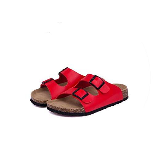 Men Beach Cork Slippers Sandals Casual Double Buckle Clogs Sandalias Man Slip on Flip Flop Shoe,3,71