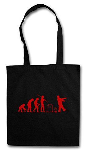 ZOMBIE EVOLUTION BLACK Hipster Shopping Cotton Bag Cestas Bolsos Bolsas de la compra reutilizables - zombi Horror Biters The Walking Shirt Dead Walkers Living Zombi