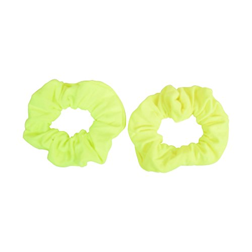Set of 2 Solid Scrunchies - Neon (Neon Yellow Hair)