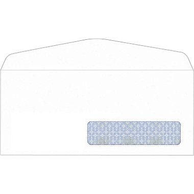 Staples #10, Right Window Security-Tint Gummed Envelopes, 500/Box by Staples