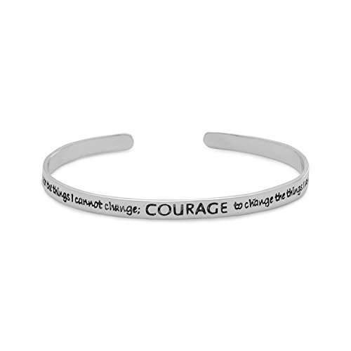 - Oxidized Sterling Silver Cuff Bracelet With The Serenity Prayer