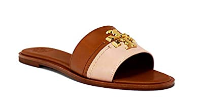 Tory Burch Everly Slide Sandal, Tan Shell Pink