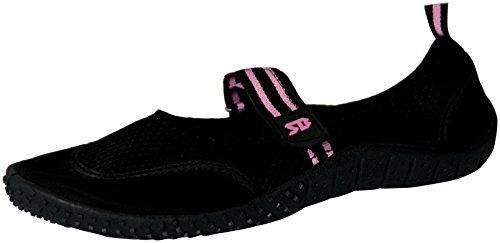 Starbay Womens Mary Janes Athletic Mesh Aqua Flats Water Shoes Black 6